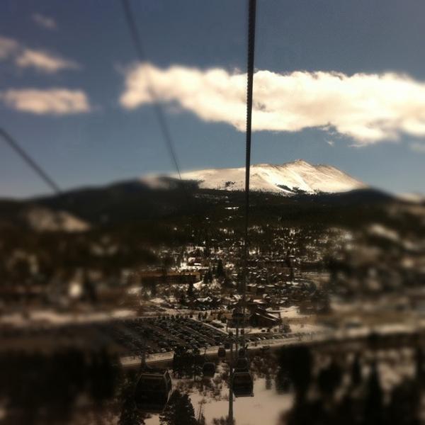 Coming down the gondola into Breckenridge.  |  photo[@pdzierba]