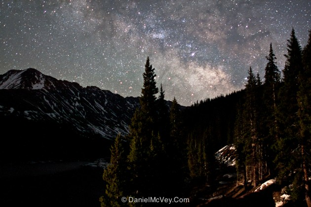Star-filled sky near Clinton Gulch in the Rocky Mountains.  |  photo[danielmcvey.com]