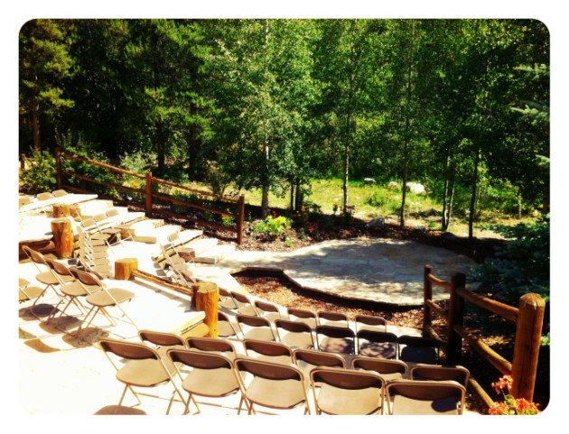 [CEREMONY] Quaking Aspen Amphitheatre: Outside Wedding Ceremony Venue in Keystone, Colorado  |  photo[stacysanchez]