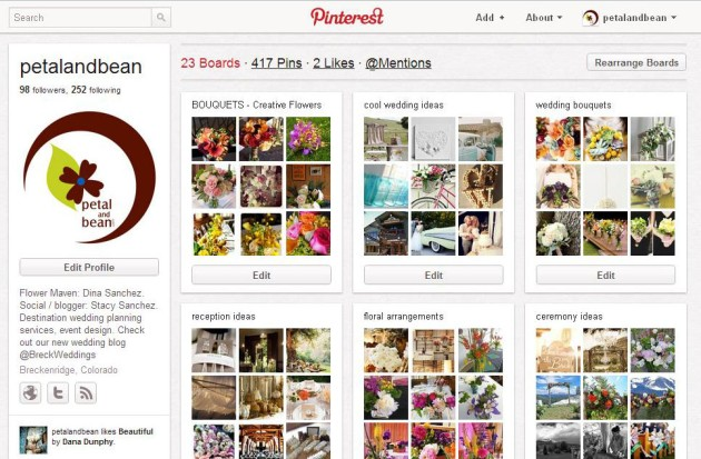 pinterest.com/petalandbean  |  [HOW TO] Create Your Own Inspiration Boards Using Pinterest to Plan Your Destination Wedding in Colorado