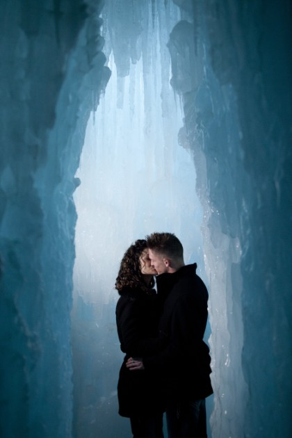 { Winter Engagement }  David + Murielle at the Ice Castles in Silverthorne, Colorado //  photo[lifeisartphoto.com]  Magazine-style Wedding Photography, Kim Larson, Colorado Wedding Photographer, Rocky Mountain Engagement Photos