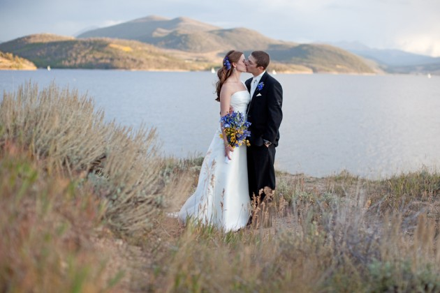 { Real Mountain Wedding } Ashley + Marc married on the shore of Lake Dillon.  Reception at the Silverthorne Pavilion.  |  photo[cedarhousephotography.com]  Dillon Colorado, Wedding, Photography, Flowers, Ceremony, Silverthorne Pavilion, Silverthorne Colorado