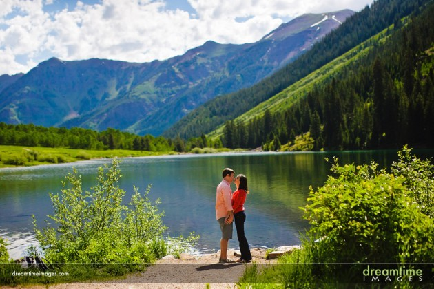 { Proposal } Captured on Film.  Maroon Bells engagement!  |  photo[dreamtimeimages.com]  Rocky Mountains, Maroon Bells, engagement, proposal, photography, Colorado Wedding Blog