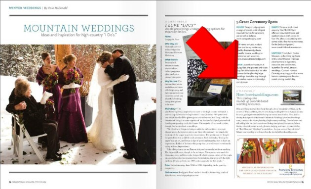 Breck Weddings in Breckenridge Magazine!  Summit Mountain Weddings, Colorado Wedding Blog Featured in Breckenridge Magazine.