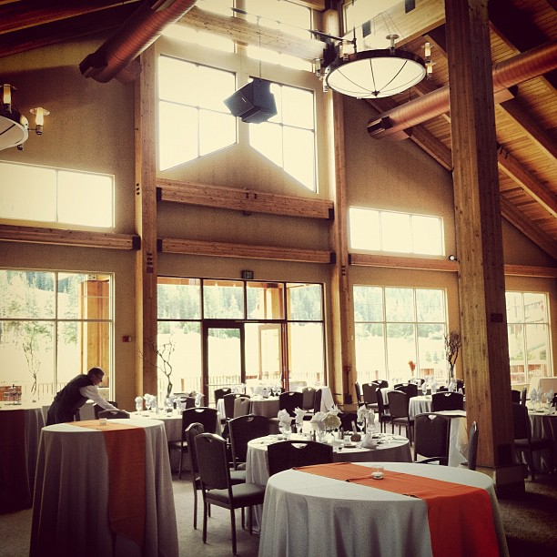 [ Venue ] The Grand Hall at Copper Station at the Copper Mountain Ski Resort  |  Copper Mountain, Colorado.  Weddings.  Wedding.  photo[stacysanchez]
