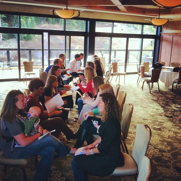 The Wedding Professionals during a speed networking event, hosted by the Breckenridge Resort Chamber at the Beaver Run Resort and Conference Center.