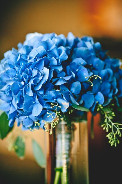 Bridal Bouquet: Hydrangea and Seeded Eucalyptus |  Brian Kraft Photography