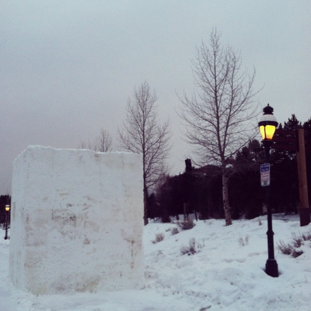 [Photo Shoot Location] The International Snow Sculpting Championships in Breckenridge, Colorado