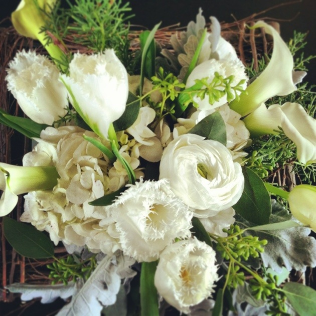 A collection of winter bridal bouquets from the Flower Maven.