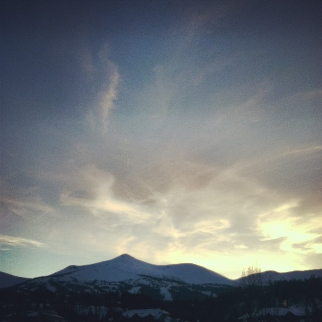 Sunset in Breck.