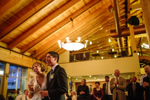 Elise + Kevin at the Grand Hall at Copper Mountain, Colorado | Image: Julia Vandenoever