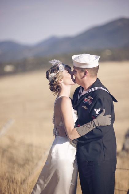 Amber + Josh: Navy Wedding After Session in Colorado | Image: Folly Photography