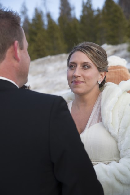 ALBUM STORY  Mountainside wedding with the closest family and friends - with the groom's family flying in from South Africa to brave the freezing outside, but it didn't stop them from exchanging vows at the top of Swan Mountain Road in Breckenridge, Colorado.