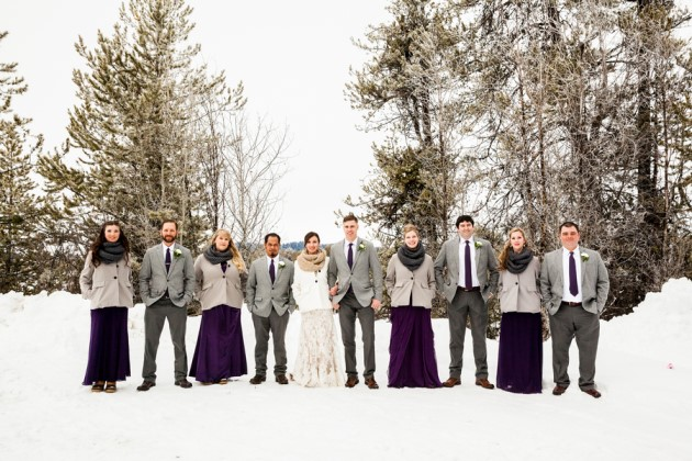 Jennifer + Bennett: Winter Wedding in Cascade, Idaho | Images: Cimbalik Photography