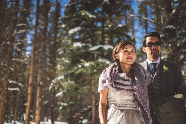 Tuyen + Simon: Dog Sledding Elopement in Breckenridge, Colorado | Image: The Photogenic Lab