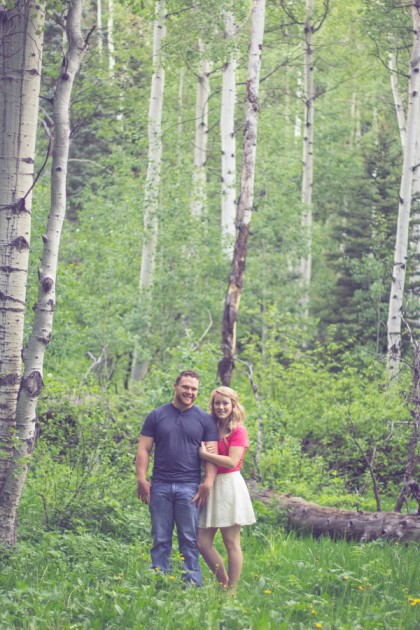 Amelia + Caleb: Colorado Rocky Mountain Engagement Photography