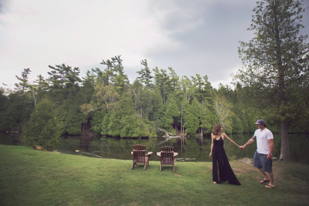 Vanessa + Peter: Lakeside Engagement Photography in Ontario | Image: Sandra Stephenson Photography