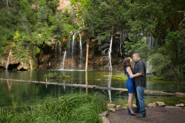 Haley + John: Hanging Lake, Colorado Engagement Photography | Image: Molly Blair Photographer