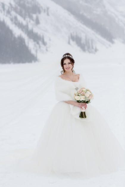 Lydia + Daniel: Winter Mountain Wedding at Lake Louise, Alberta | Image: ENV Photography