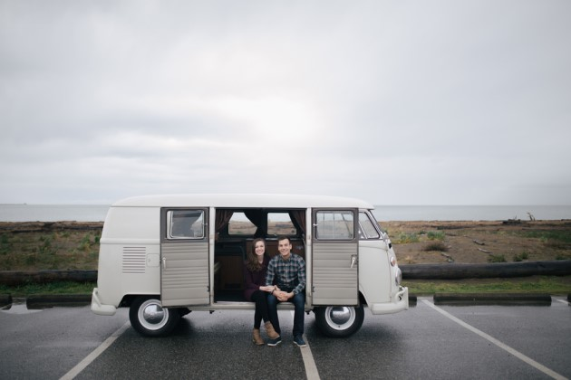 Megan + Thomas: VW Bus Engagement Photography in British Columbia | Image: Clint Bargen Photography