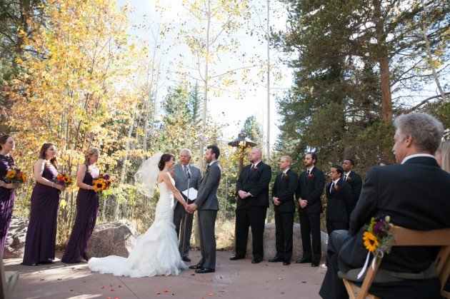 Megan + Andrew: Fall Mountain Wedding in Vail, Colorado | Image: TMDexter Photography