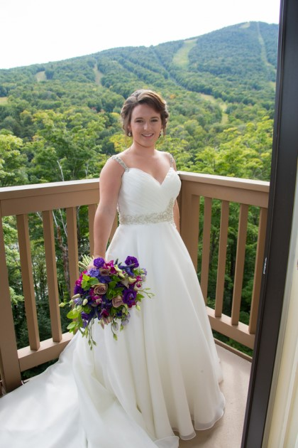 Hilary + Josh: Vermont Mountain Wedding at Stowe | Image: Kathleen Landwehrle Photography