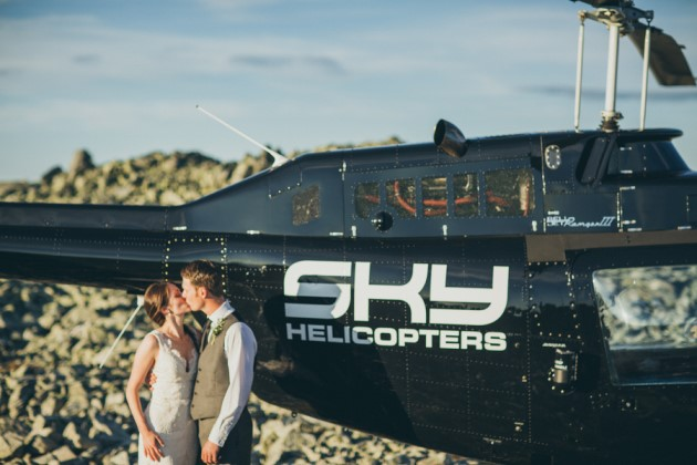 Amy + Adam: Rainbow Mountain Helicopter Elopement in British Columbia | Image: matdivad photography