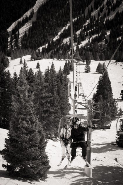 Angela + Chris: Bride and Groom Ski to Wedding Ceremony in Breckenridge | Image: Timothy Faust Photography