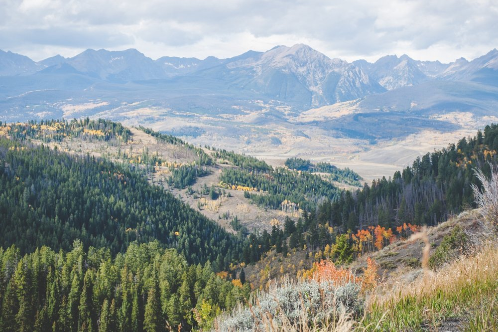 gorgeous vista of the Gore Range north of Silverthorne, Colorado in the autumn