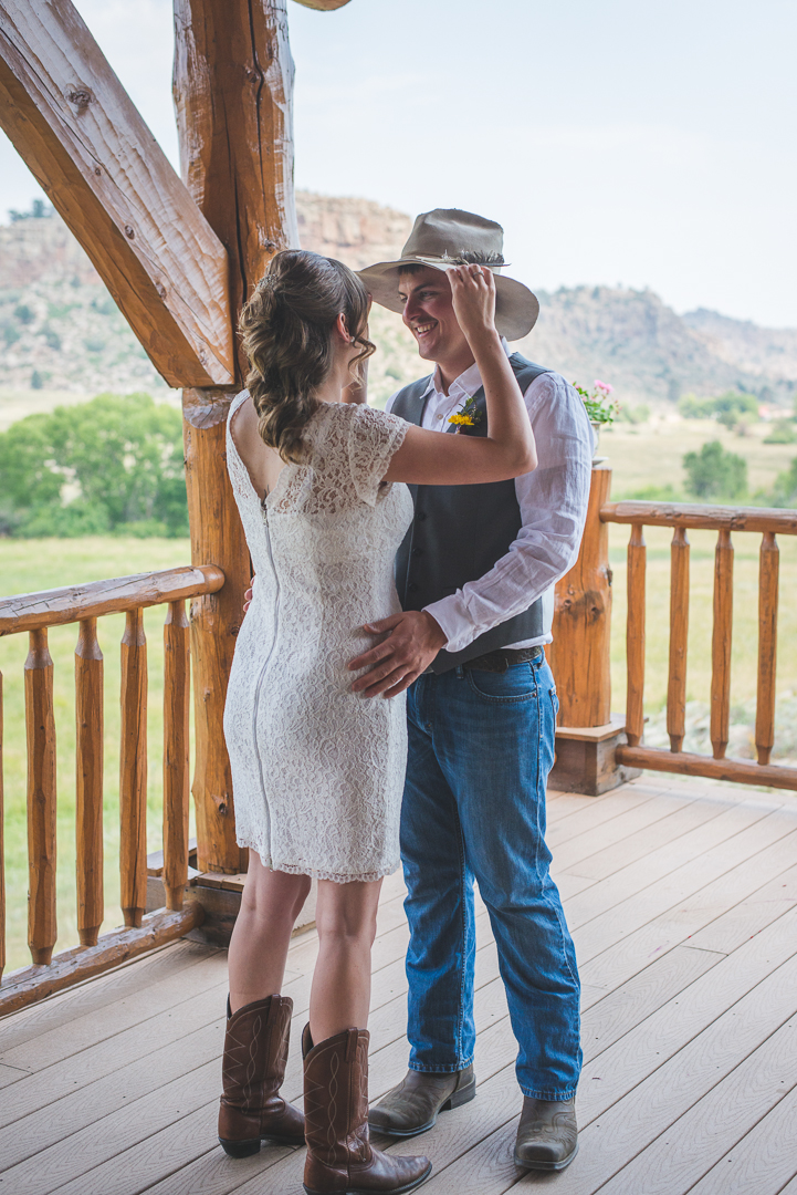 colorado bride and groom country style