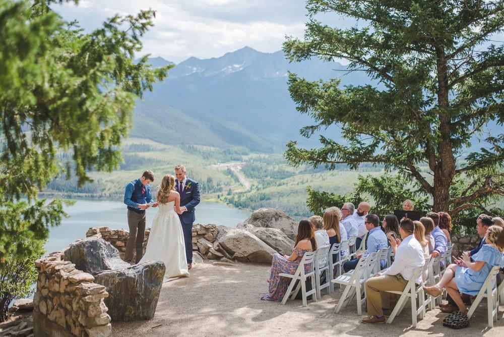 colorado small wedding by lake dillon | summit mountain weddings