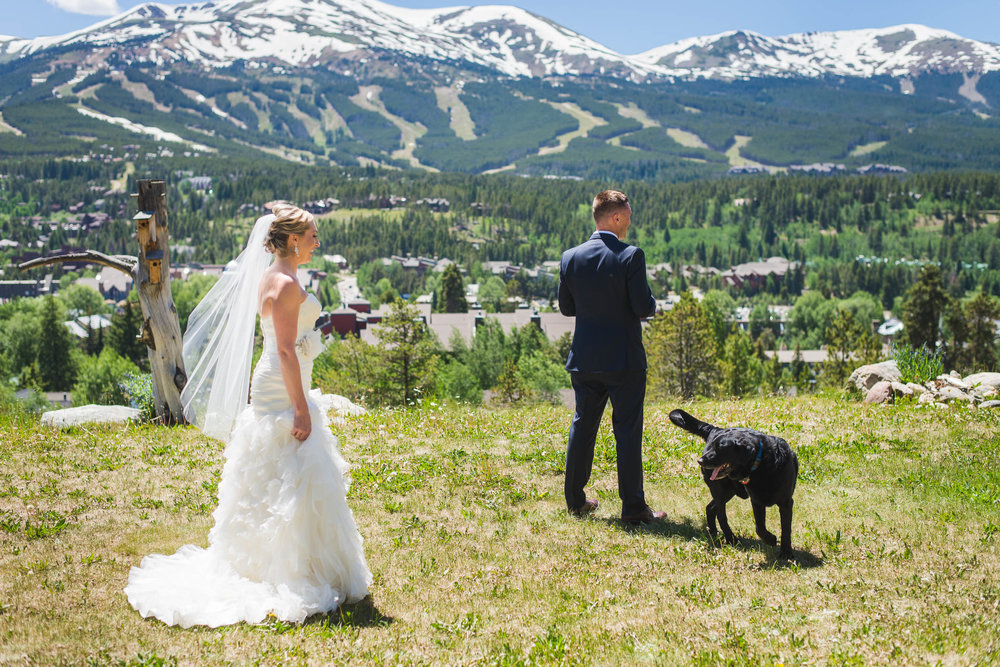 Summit Mountain Weddings Intimate Wedding | Breckenridge, Colorado elopement photographer | First Look moment