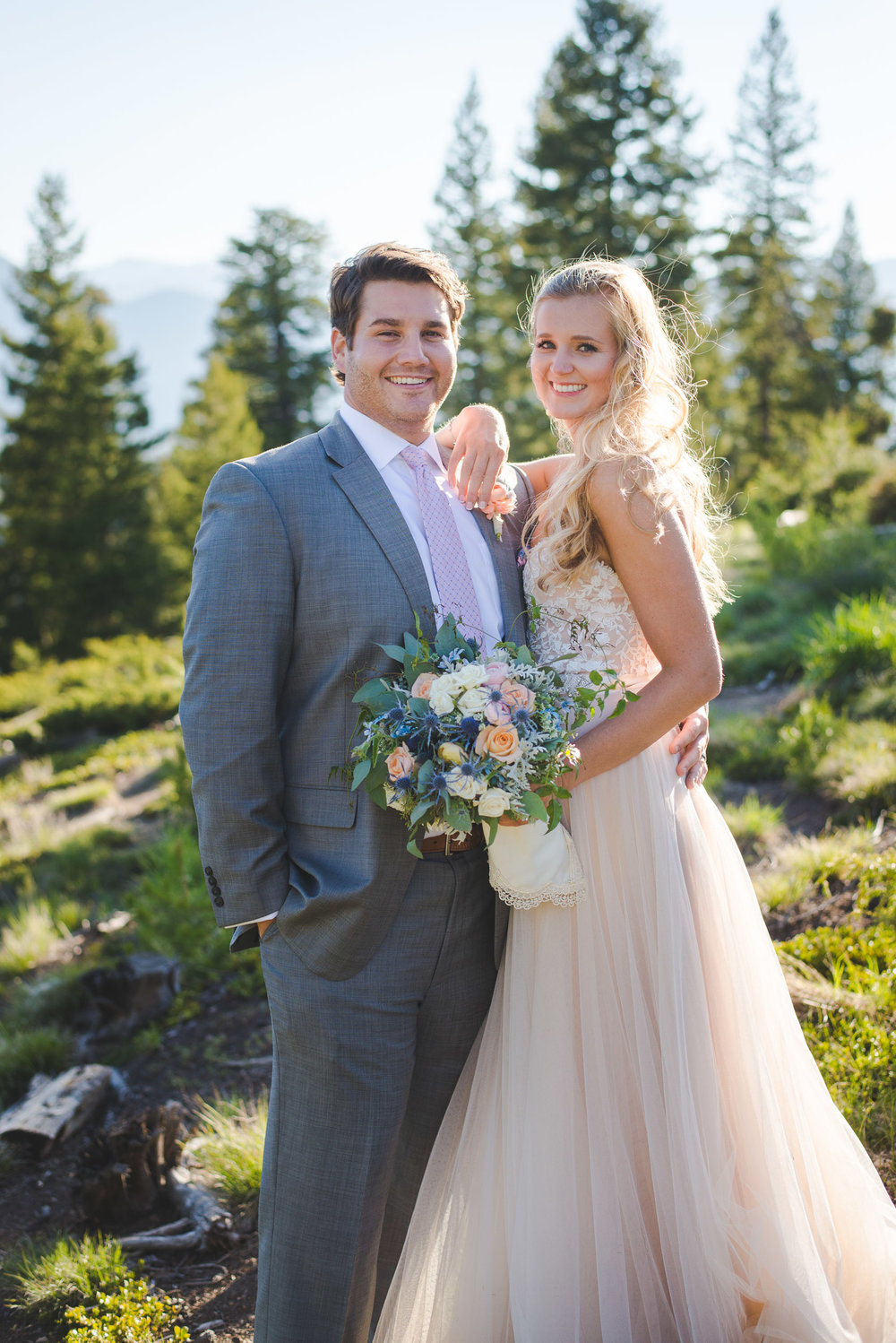 summer june colorado mountain wedding elopement