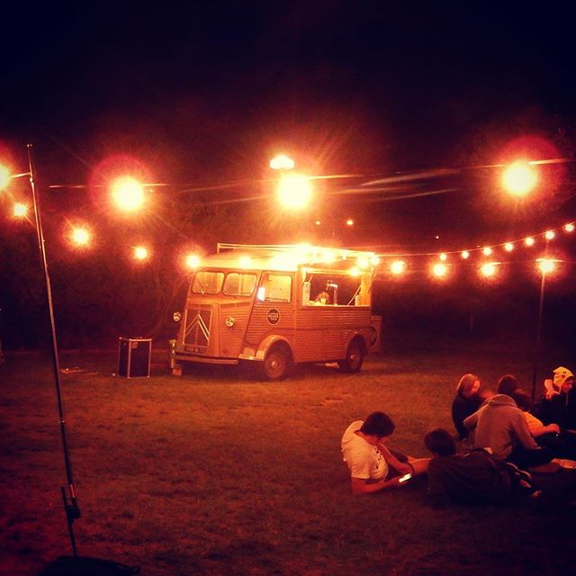 Lit up like a Christmas tree, the festoon lighting looked perfect with the van lights hanging in the trees down by the river. Matilda bay is truly a sensation setting for any party, check it out. #littlebrassvan #matildabay #perthpopup