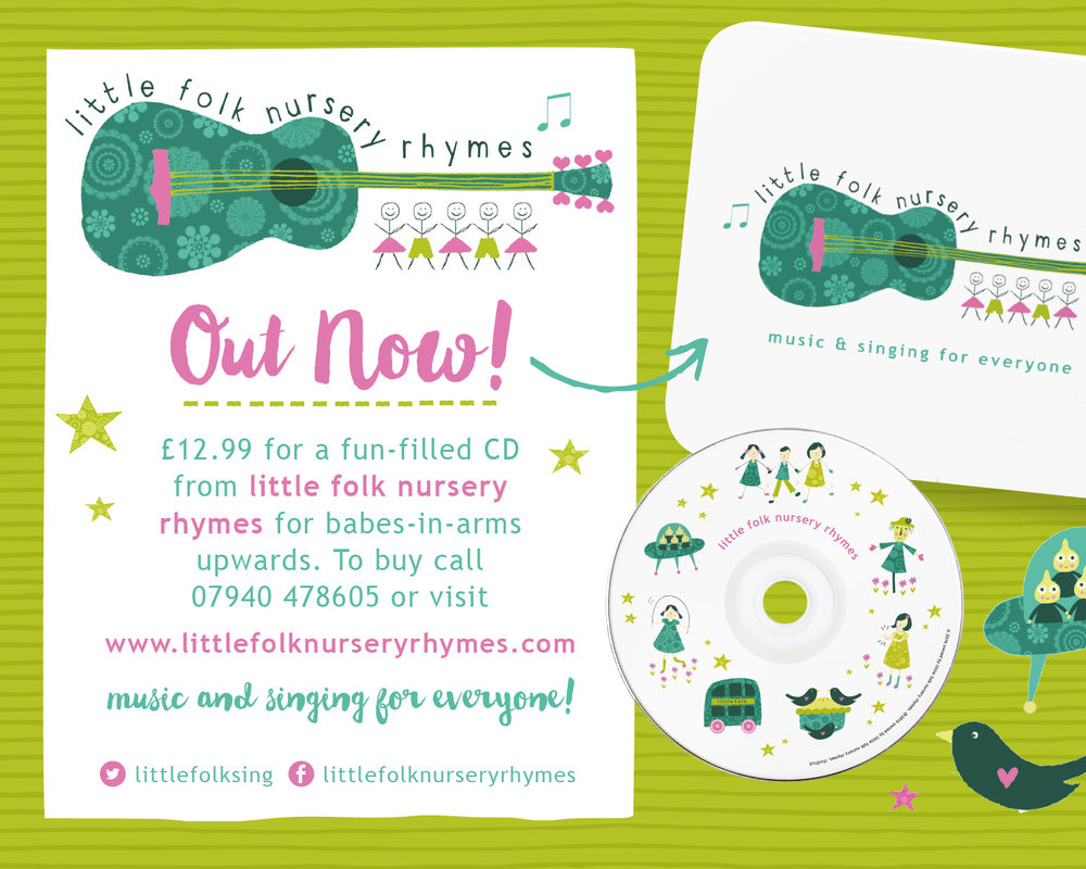 Little Folk Nursery Rhymes - A fun filled CD for babes in arms and upwards call Cat on 07940 478 605 or visit the website for more information.