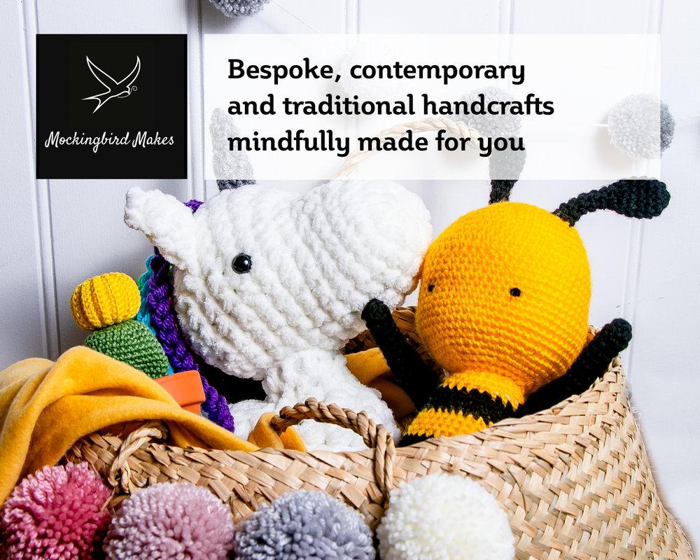 Mockingbird Makes - Bespoke, contemporary and traditional handcrafts mindfully made for you. 20%off when you mention FF.E: Shannon: bespoke@mockingbirdmakes.co.uk www.instagram.com/mockingbird_makes