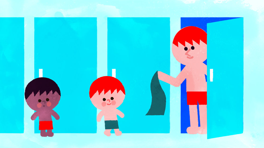 SCOUTS,CUBS,BEAVERS--SAFEGUARDING---Young-Illustration-&-Animation-Studio-Manchester-2D-animation,-charity,-kids,boys,dad,-cubicals,-swimming-baths,-showering,-swimming-pool.jpg