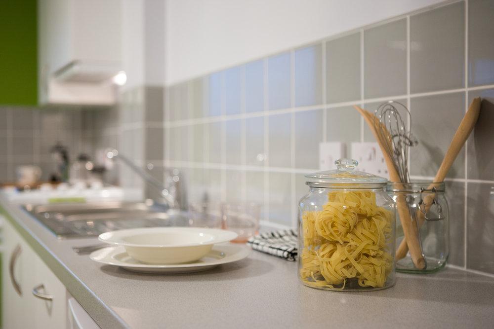 Kitchen in Marshall Court Studio