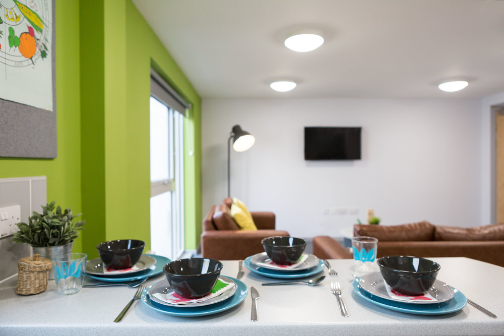 Dining area in shared flat