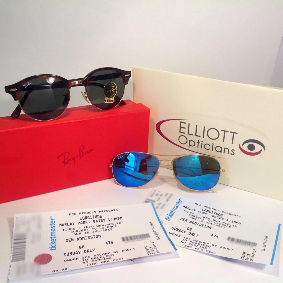 ***GET FESTIVAL READY WITH RAYBANS AND LONGITUDE TICKETS***  Tag the friend that you want to bring to Longitude and get a fresh pair of Raybans and ticket each!!! 🕶️🎸  Come into Elliott Opticians, Athlone to find the frames you fancy 😎   🌞 Like and share the post and like our Facebook page to enter 🌞  T&C's Apply