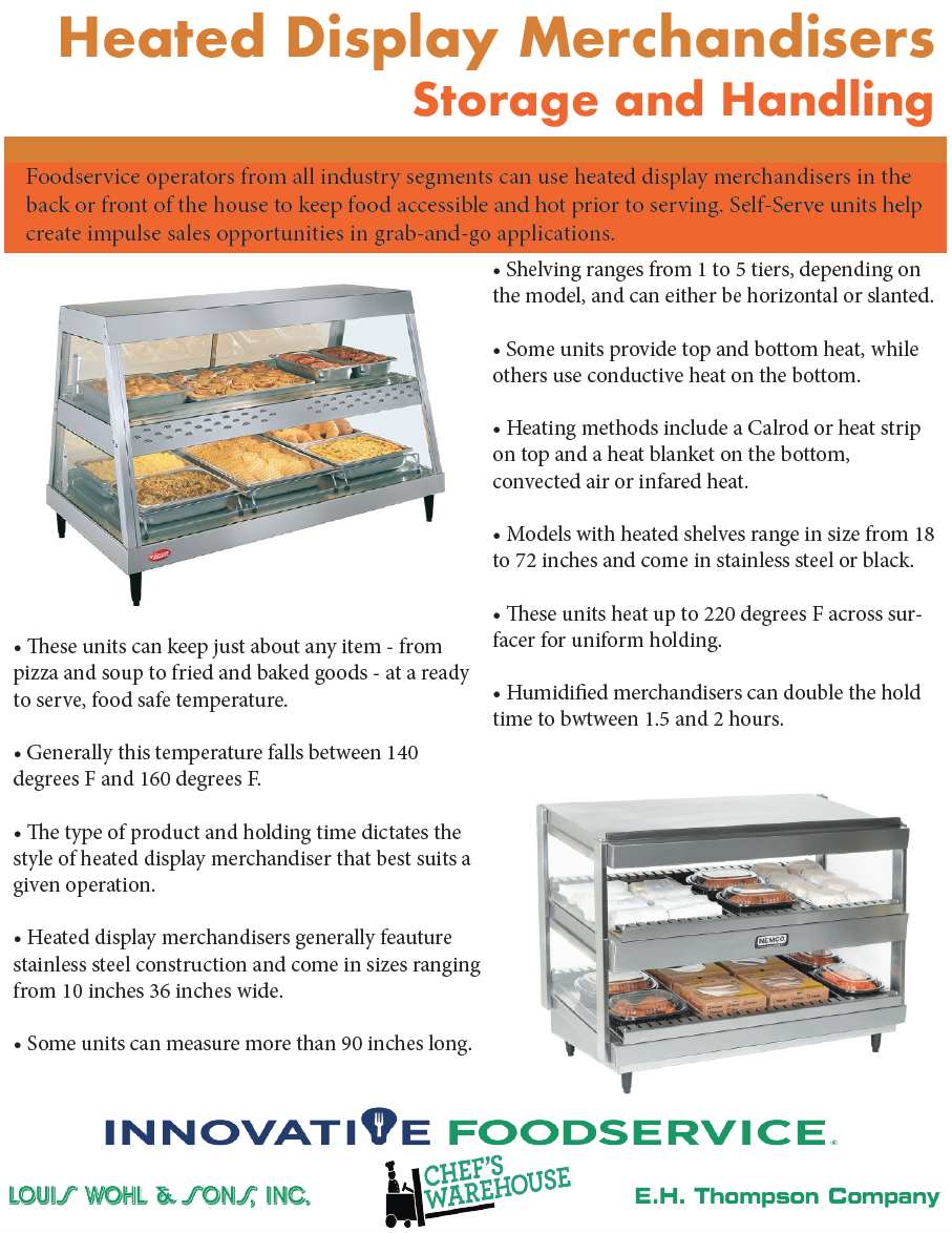 Heated Display Merchandisers