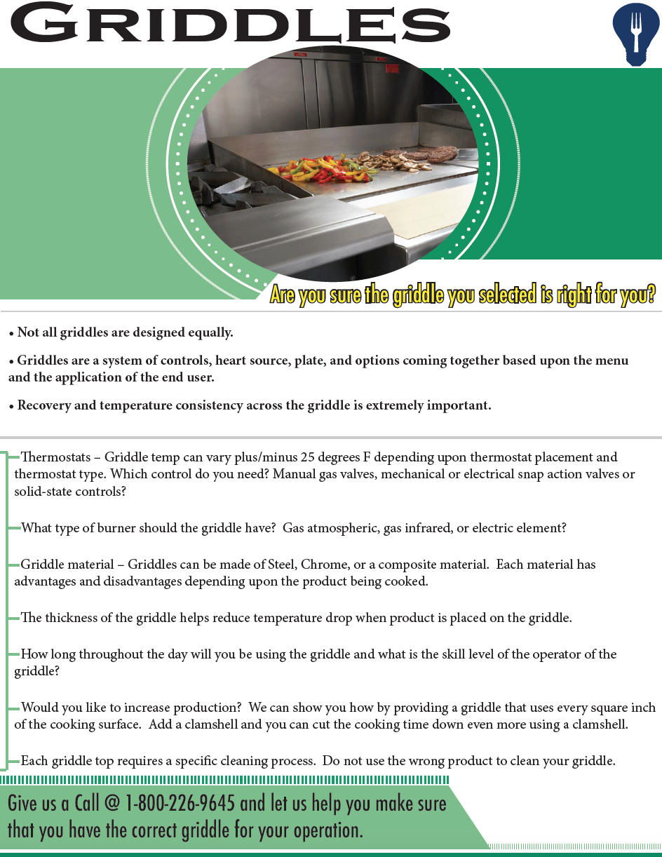 Are you selecting the right Griddle?