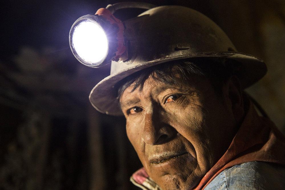 Underground Silver Miner, Bolivia, 2016