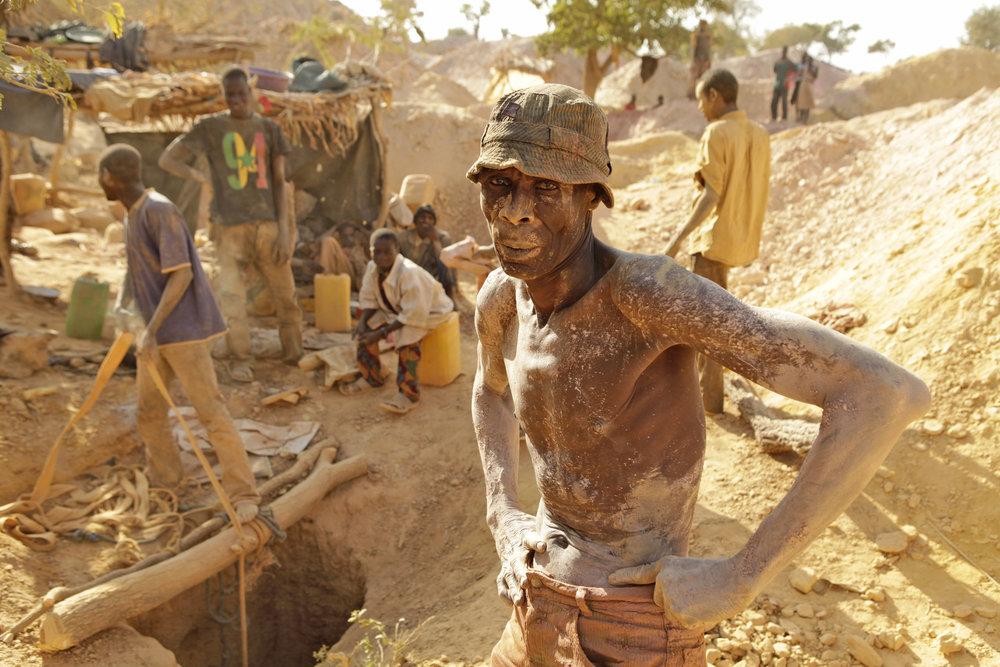 Underground Gold Miner, Burkina Faso, 2010