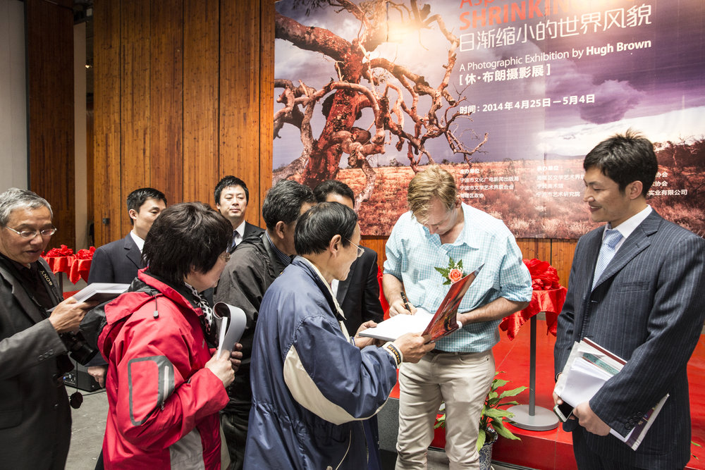 Book signing at one of my 2014 exhibitions in China.
