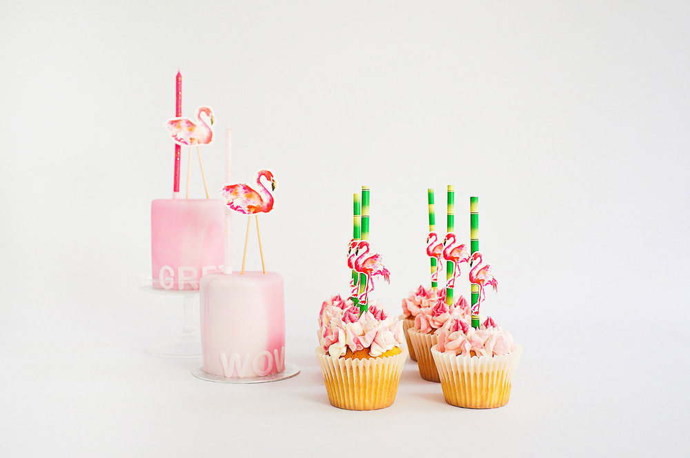 Fruitful Kids Cakes and Cupcakes Flamingo
