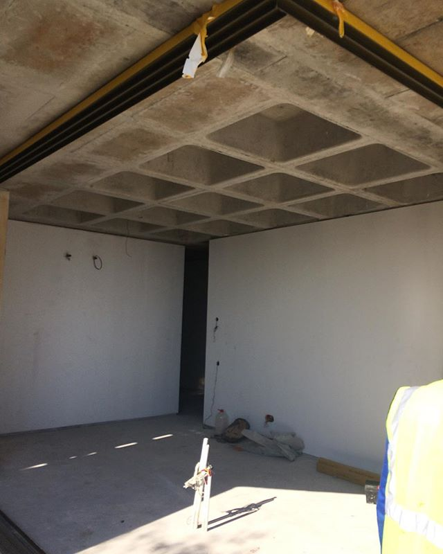 Site progress... we'll be sharing some images in the next couple of weeks of our systems used in this Klûk development. #capetown #lightingdesign #groundfloorprojects #cofferceiling #cofferslab #gira #knxproject #knx