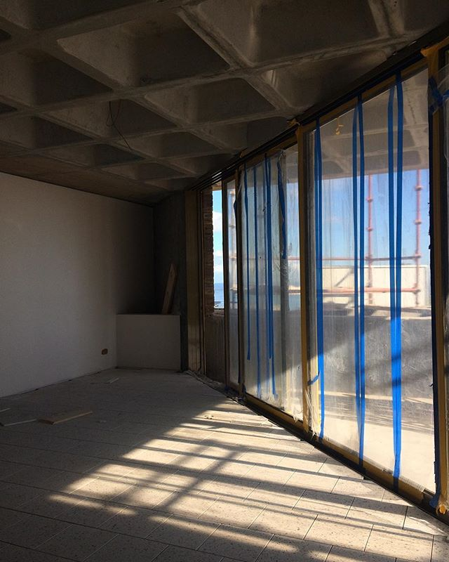 #Construction #naturallight #seapoint #cofferedceiling #tileslover #hourscleararchitects #baseprojects @groundfloorprojects