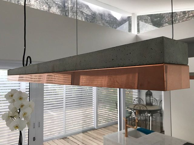 Our client wanted a fitting that married earth & copper together. This #gantlights stunner was the answer. Imported especially for our client, because we make dreams happen. 😃 #linearlighting #lightingdesign #campsbay #coppertone #copperlights @groundfloorprojects