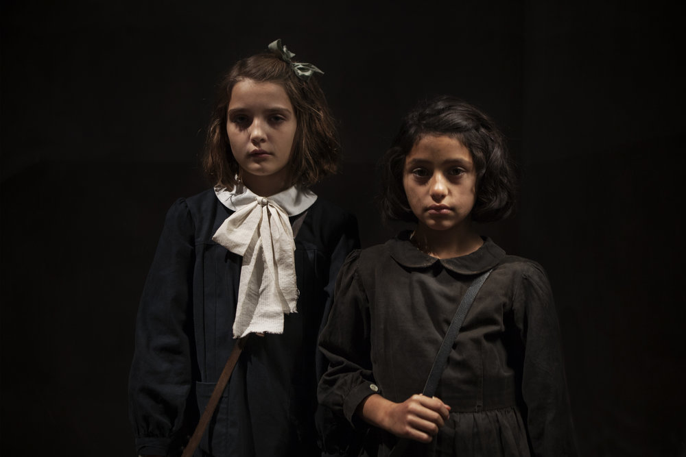 (L to R) Elisa Del Genio as young Elena, and Ludovica Nasti as young Lila. Eduardo Castaldo - HBO (Photo 1).jpg